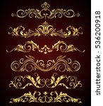 golden vintage elements and... | Shutterstock .eps vector #536200918