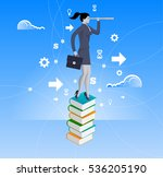 power of knowledge concept.... | Shutterstock .eps vector #536205190