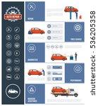 auto repair service infographic ... | Shutterstock .eps vector #536205358