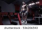 muscular bodybuilder guy doing... | Shutterstock . vector #536206543