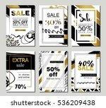 set of social media sale... | Shutterstock .eps vector #536209438
