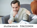 depressed patient | Shutterstock . vector #536210404
