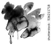 black abstract watercolor macro ... | Shutterstock . vector #536211718