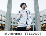 sporty guy | Shutterstock . vector #536214379