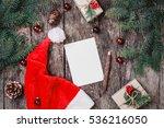 christmas letter on wooden... | Shutterstock . vector #536216050