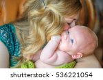 happy mother with the newborn... | Shutterstock . vector #536221054