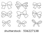 set of bows  hand drawn vector... | Shutterstock .eps vector #536227138