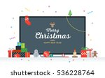 large tv with congratulatory... | Shutterstock . vector #536228764