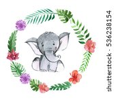 cute baby elephant animal for... | Shutterstock . vector #536238154