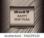creative happy new year 2017 | Shutterstock .eps vector #536239120