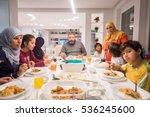 muslim traditional family... | Shutterstock . vector #536245600