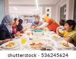 muslim traditional family... | Shutterstock . vector #536245624