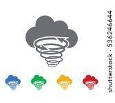 tornado cloud icon vector