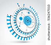 technical blueprint  blue... | Shutterstock .eps vector #536247010