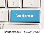 webinar   computer keyboard...   Shutterstock . vector #536248930