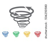 tornado icon vector | Shutterstock .eps vector #536250580