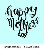 happy mother's day. greeting... | Shutterstock .eps vector #536256556