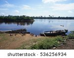 Small photo of Boats on the River Congo