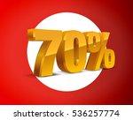 70  percent off  sale white... | Shutterstock .eps vector #536257774