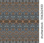 ethnic geometric shapes striped ... | Shutterstock . vector #536262433