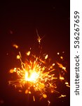 christmas sparkler in haze with ... | Shutterstock . vector #536267659