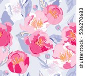 seamless floral  background.... | Shutterstock .eps vector #536270683