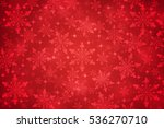 christmas  snowflakes on red... | Shutterstock . vector #536270710