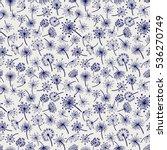 ball pen dandelion seamless... | Shutterstock .eps vector #536270749