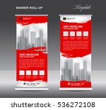 red roll up banner template... | Shutterstock .eps vector #536272108