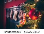 beautiful decorated christmas... | Shutterstock . vector #536272510