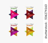 set of triangle option... | Shutterstock .eps vector #536274163