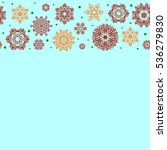 trendy stylized snowflakes and... | Shutterstock . vector #536279830