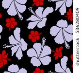 floral on a black background.... | Shutterstock . vector #536280409