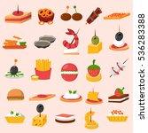 canape snacks appetizer vector... | Shutterstock .eps vector #536283388