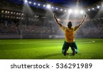 winner of soccer cup . mixed... | Shutterstock . vector #536291989