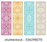 decorative doodle lace borders...   Shutterstock .eps vector #536298070