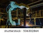 robot welding automotive part...   Shutterstock . vector #536302864