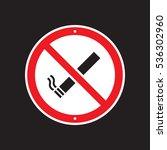 a vector no smoking sign on a... | Shutterstock .eps vector #536302960