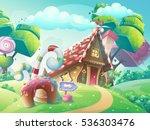 vector cartoon illustration... | Shutterstock .eps vector #536303476
