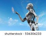 sci fi robotic girl. gynoid... | Shutterstock . vector #536306233
