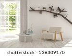 white room with armchair and... | Shutterstock . vector #536309170