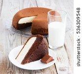 Two Layered Cake  Chocolate An...
