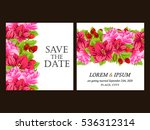 romantic invitation. wedding ... | Shutterstock .eps vector #536312314