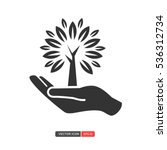 hand with tree icon. you can... | Shutterstock .eps vector #536312734