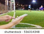 man use mobile phone  blur... | Shutterstock . vector #536314348