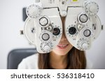 woman unergo eyes test | Shutterstock . vector #536318410