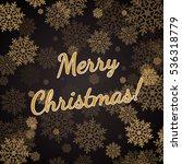 the christmas congratulation...   Shutterstock .eps vector #536318779