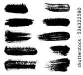 black ink brush strokes ... | Shutterstock . vector #536322580