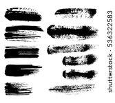 black ink brush strokes ... | Shutterstock . vector #536322583