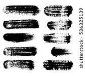 black ink brush strokes ... | Shutterstock . vector #536325139
